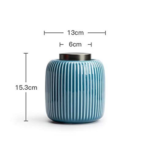Ykun Teedosen, große Keramik versiegelte Aufbewahrungsdosen für den Haushalt,-Blau