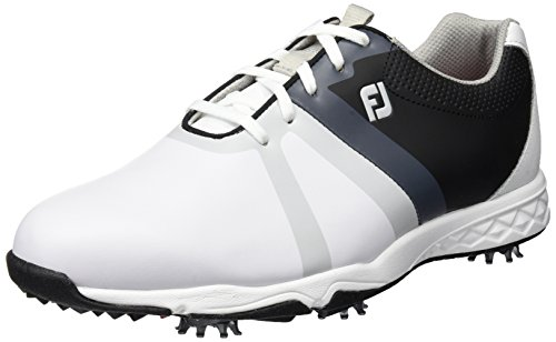 Footjoy Herren FJ Energize Golfschuhe, 58114 (White/Black/Grey), 47 EU