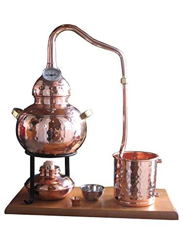 Dr. Richter Destillieranlage Alambic Classico mit Thermometer (2 Liter). Destille für Wasserdestillation/Pflanzenwasser
