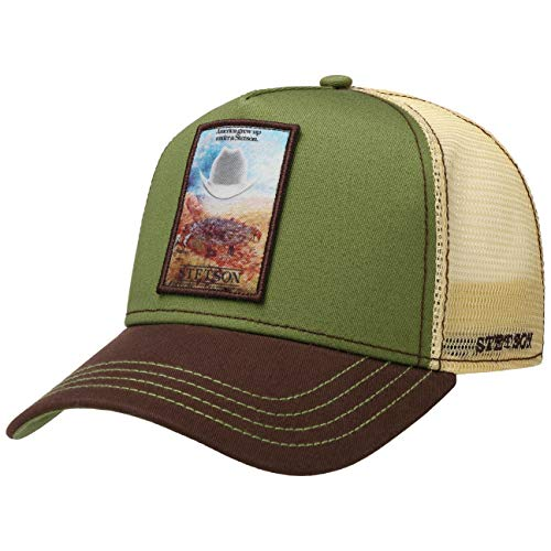 Stetson Grew Up Trucker Cap - Truckercap Herren - Meshcap größenverstellbar - Basecap mit Mesh-Einsatz - Baseballcap Frühjahr/Sommer - Schirmmütze beige One Size