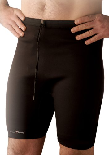 Precision Training Neoprene Pantaloncini, Nero/Rosso, XL