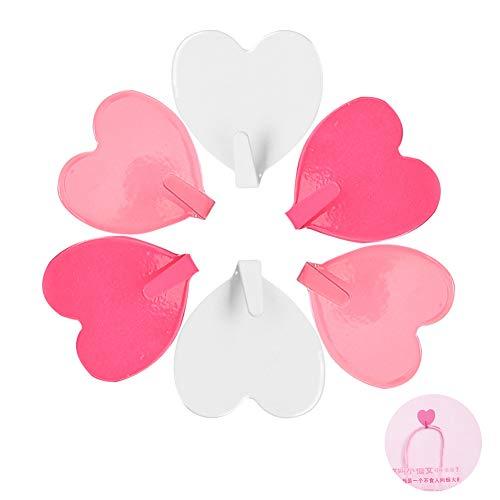 Ganchos de pared,15 unidades de ganchos autoadhesivos en forma de corazón,gancho fuerte resistente,bonito corazón sin costuras,ganchos adhesivos para colgar en la pared y ganchos para colgar bolsos
