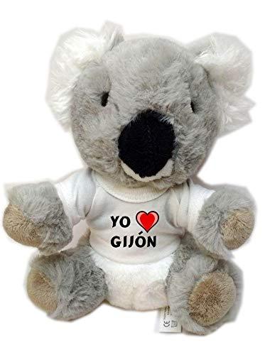Koala personalizada de peluche (juguete) con Amo Gijón en
