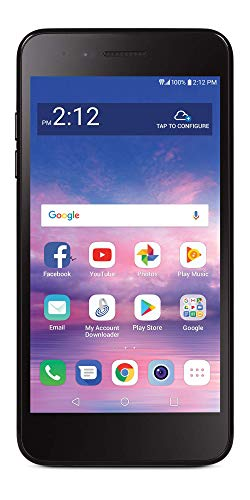 Net10 Carrier-Locked LG Rebel 4 4G LTE Prepaid Smartphone - Black - 16GB - Sim Card Included - CDMA