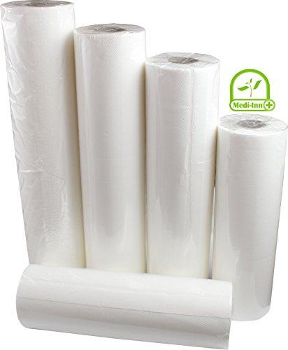 MEDI-INN Ärzterollen 2-lagig 9 Rollen | 39 cm | hochwertige weiße Liegenabdeckung | perforierte Papierrolle | Ideal für Krankenhäuser, Praxen, Tattoostudios