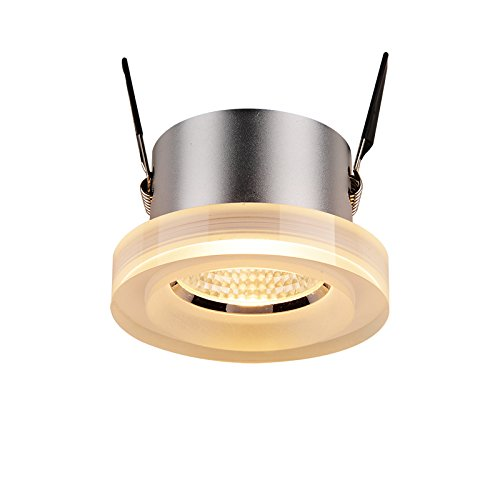 Vinteen Golden LED 8 W Downlight Embedded Glare COB variole trou lampe entrée allée lumières fond mur vêtements magasin spot lampe plafonnier (Color : Natural light)