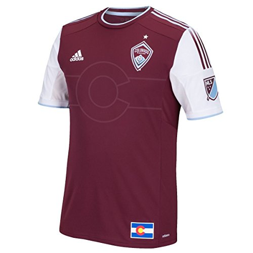 adidas Colorado Rapids MLS Men's Maroon Short Sleeve Authentic On-Field Jersey (2XL)
