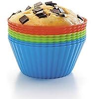Lacor - 66745 - Set De 12 Moldes Para Muffins de Silicona - Multicolor