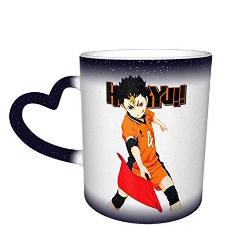 IUBBKI Haikyuu Ceramic Heat Sensitive Color Changing Starry Sky Novelty Travel Mug Unique Galaxy Coffee Mug Tea Mugs Cups 12OZ