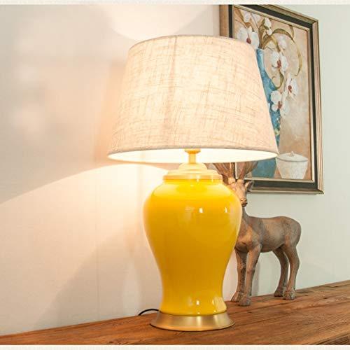 Lampade da scrivania FHW Americana in Ceramica Lampada da Tavolo Camera Lampada da Comodino Lampada Living Room Divano Tavolino Retro Decorativo Lampada da Tavolo (Color : B, Size : 68 * 43)
