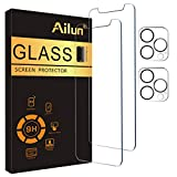 Ailun 2Pack Screen Protector Compatible for iPhone 12 Pro[6.1 inch] + 2 Pack Camera Lens Protector,Tempered Glass Film,[9H Hardness] - HD