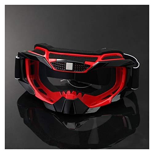 XIAOSHI Gafas de Ciclismo Motocicleta Dirt Bike Racing Goggles MX Off Road Glasses Motorbike Deporte al Aire Libre Oculos Ciclismo Gafas Motocross Gafas Gafas de Ciclismo Hombre (Color : Red)
