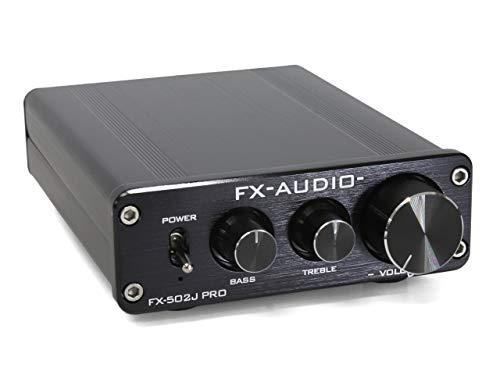 FX-AUDIO- FX-502J PRO TDA7498搭載 50W×2ch トーンコントロール機能搭載プリメインアンプ (ブラック)