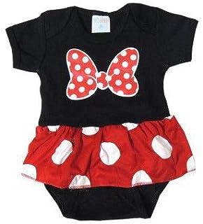 Body Bebê M/C Personagem Minie com Saia - Pro Baby