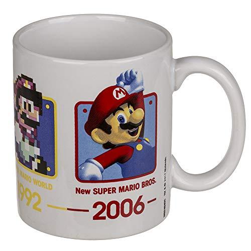 Out of the blue 78/8328 keramische beker, Super Mario, voor ca. 325 ml, H: 10 cm, keramiek
