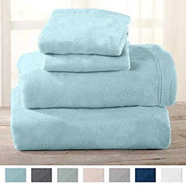 Home Fashion Designs Maya Collection Super Soft Extra Plush Polar Fleece Sheet Set. Cozy, Warm, Durable, Smooth, Breathable Winter Sheets in Solid Colors. By Brand. (King, Cloud Blue)