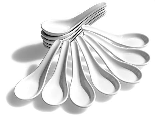 Chinesische Esslöffel, Weiß, 12 Stück