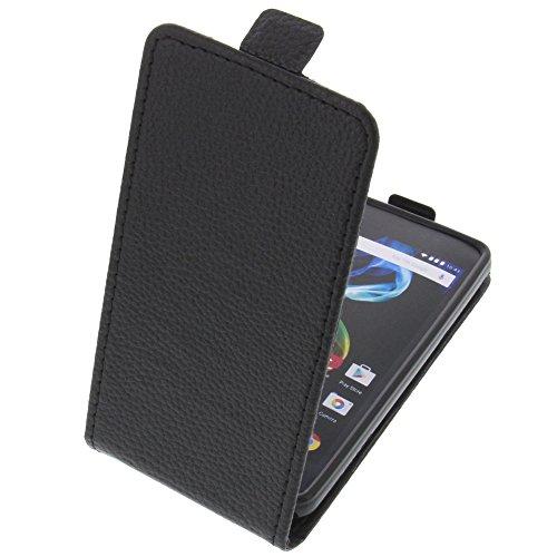 foto-kontor Tasche für Archos 45d Platinum Smartphone Flipstyle Schutz Hülle schwarz