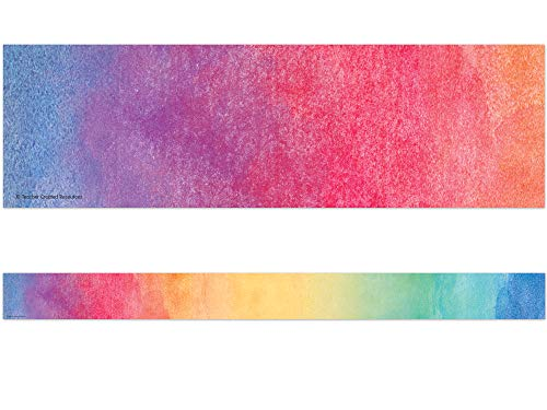Watercolor Straight Border Trim