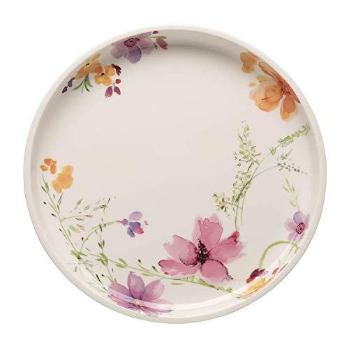 Villeroy und Boch Mariefleur Basic Servierplatte, 30 cm, Premium Porzellan, Weiß/Bunt