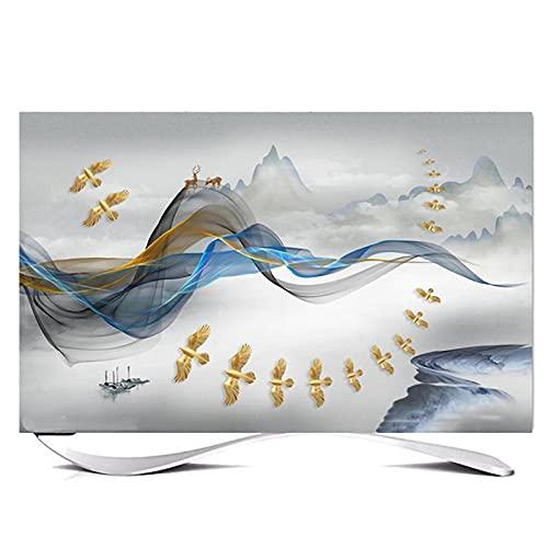 Huis 80in Indoor TV Dust Cover, Cover Type TV Screen Protector Voor Lcd Led Decoratie Televisie Set Cover Waterdichte Behuizing Scherm(Size:80in,Color:G)