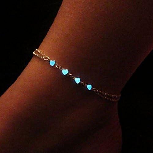 Glow In The Dark Pastel Star Anklet