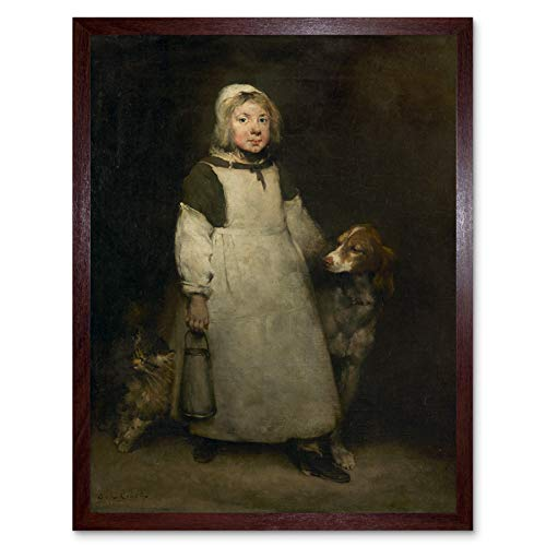 Ribot The Little Milkmaid Art Print Framed Poster Wall Decor 12x16 Inch Pequeño Póster Pared