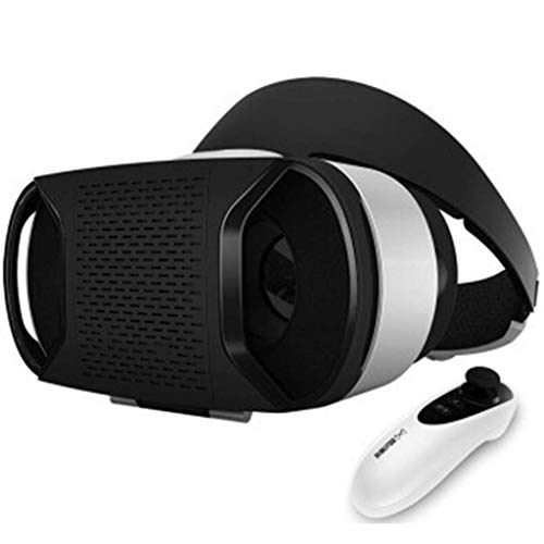 Great Price! XHMCDZ Virtual Reality Headset – 360° VR Goggles for Android – Plays 3D Games in VR Helmet – Best VR Glasses Set w/Free Remote Controller
