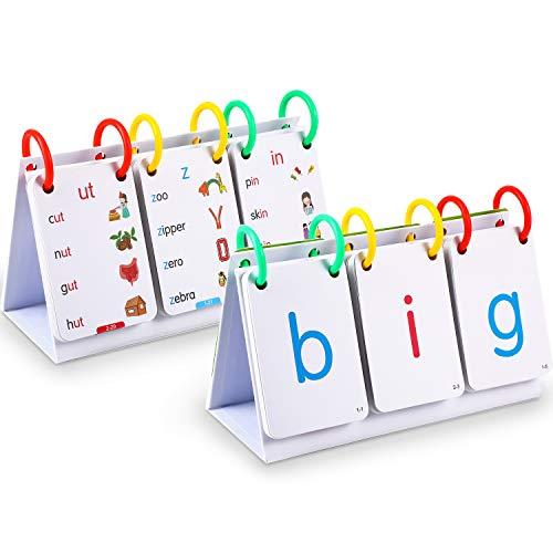 Sichtwörter Blitz Karten Alphabete Flash Blinken Karten Set, Sicht Wörter Blinken Karten 66 Karten mit 132 Bildern, Lehrreich Lernen Kindergarten Lernkarten für Kleinkinder Lehrreich Werkzeuge