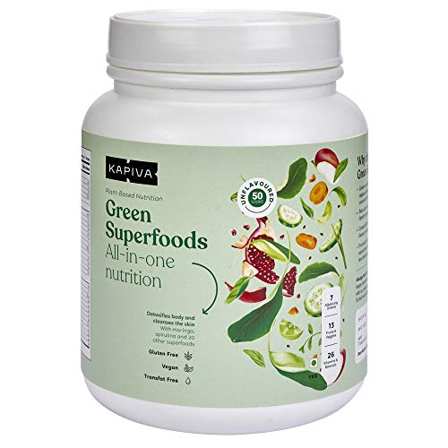Kapiva Green Superfoods Complete Nutrition Powder, Detoxify Body, Build Strength and Immunity - 1kg