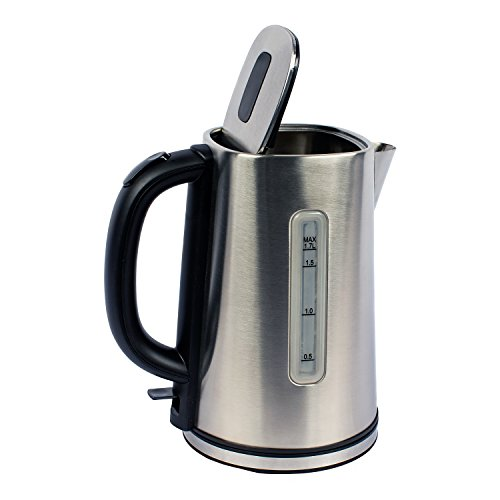 Magic Chef MCSK17SS Electric Kettle, 6.1X 8.8 X9.5, Stainless Steel
