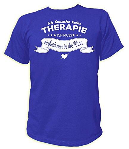 Artdiktat Herren T-Shirt Ich Brauche Keine Therapie - Ich muss einfach nur nach Rhön Größe XXXL, blau