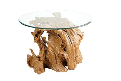Windalf Bell Table basse rustique en bois de racine Ø 70 cm