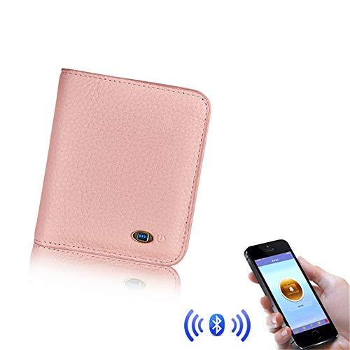Smart Wallet Anti-Diefstal, Anti-Loss Alarm Met Bluetooth 4.0 Voor Mannen Lederen Portemonnees Verloren portemonnee Oplaadbare Batterij IOS en Android Compatibel