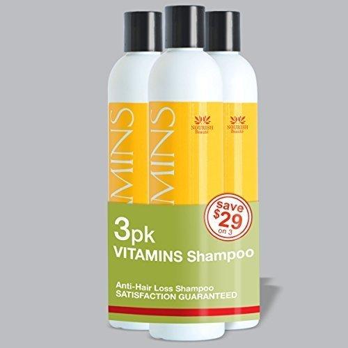 Nourish Beaute–Champú para la pérdida de cabello - Vitaminas naturales, bloqueador DHT para un crecimiento más rápido en hombres y mujeres, el mejor producto de tratamiento para alopecia, 280ml, más de 2 meses de tratamiento