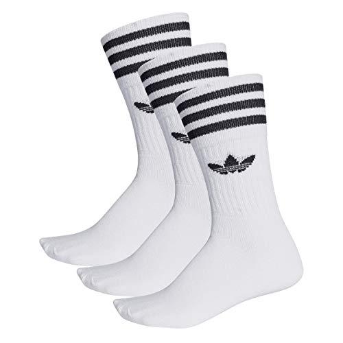 Adidas Solid Crew Socks Socken 3er Pack (43-46, white/black)