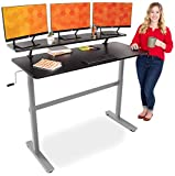 """Stand Steady Tranzendesk 55 in Standing Desk with Clamp On Shelf 