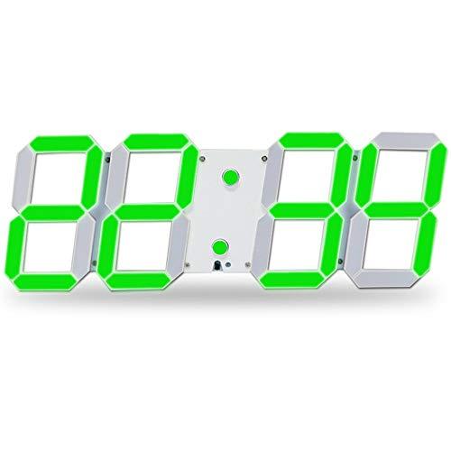 Reloj estéreo LED Reloj Despertador Minimalista Moderno Oficina Mudo Fuente Grande LED...