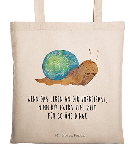 Mr. & Mrs. Panda Tasche, Shopper, Tragetasche Sir Schneckalot mit Spruch - Farbe Transparent
