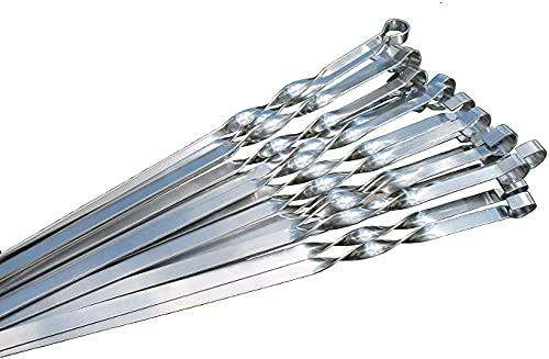 20 Stück Grillspieße EXTRA STARK aus Edelstahl, Grillzubehör für Mangal Spiess Grill, Schampura Schaschlikspieße (50)