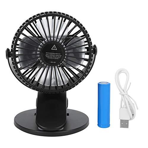 DaMohony Mini ventilador eléctrico portátil recargable USB ventilador de refrigeración de escritorio con clip para oficina en casa