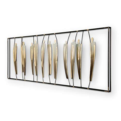mosa designs - Quadro decorativo da parete in metallo 3D, 120 x 45 cm, oro o multicolore