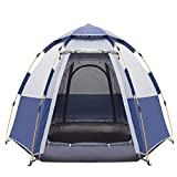CGH Camping Tents 3-4 Person [Instant Tent] Waterproof [Pop up Tent] [Quick Set up] Family Beach Dome Tent UV Protection with Carry Bag