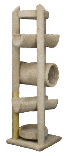 Molly and Friends 'Sequoia Extra-Large 7-Foot-Tall Premium Handmade Cat Tree with Sisal, Beige