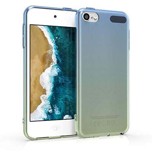 kwmobile Back-Cover Compatibile con Apple iPod Touch 6G / 7G (6a e 7a Generazione) - Custodia prottetiva Morbida Silicone TPU - 2 Colori Blu/Verde/Trasparente