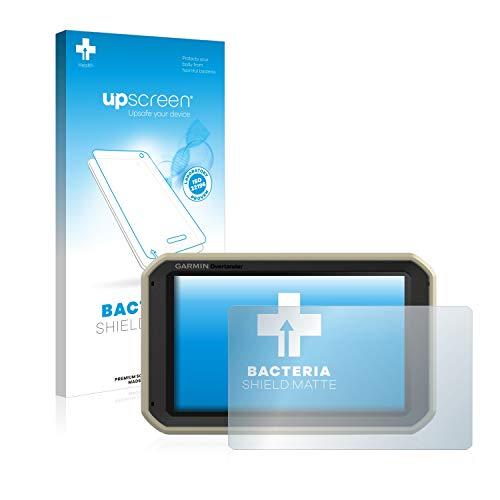 upscreen Protector de Pantalla Mate Compatible con Garmin Overlander Película Protectora Antibacteriana - Anti-Reflejos, Anti-Huella