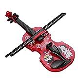 KTOO Kids Little Violin with Violin Bow Fun Strumenti musicali educativi Violin elettronico Giocattolo per bambini Bambini Ragazzi e ragazze Rosso