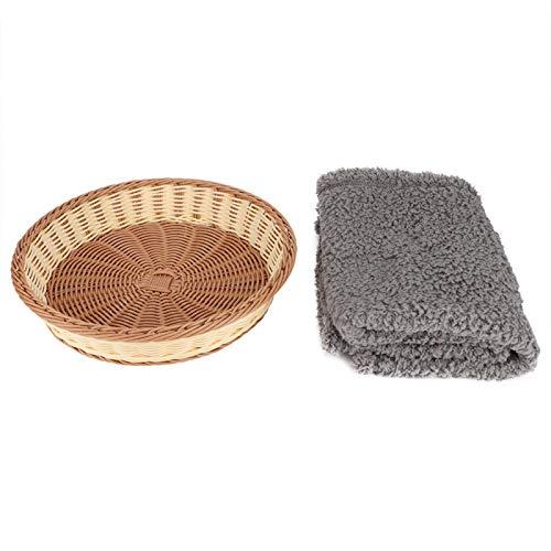 SALUTUYA Rundform Waschbarer & Anti-Deform Hund für 4 Jahreszeiten 40 * 30,5 * 10,5 cm Nest