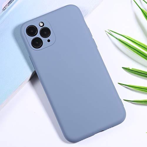 GUODONG Carcasa de telefono for el iPhone 11 Pro MAX de Silicona Cámara de precisión Agujero Funda Protectora del teléfono Funda Trasera para Smartphone (Color : Baby Blue)
