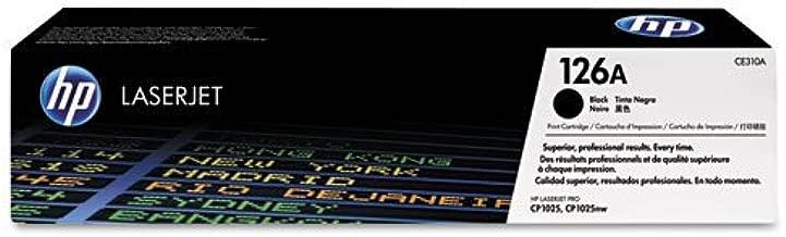 HP - HP 126A, (CE310A) Black Original LaserJet Toner Cartridge CE310A (DMi EA